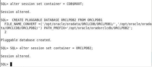 Modularization by using Oracle Database Containers and PDBs