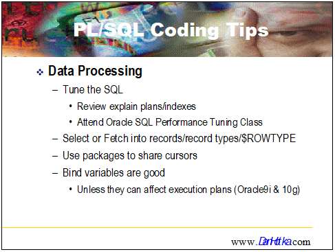 Oracle PL/SQL Performance Tips - Coding Best Practices - Part 8