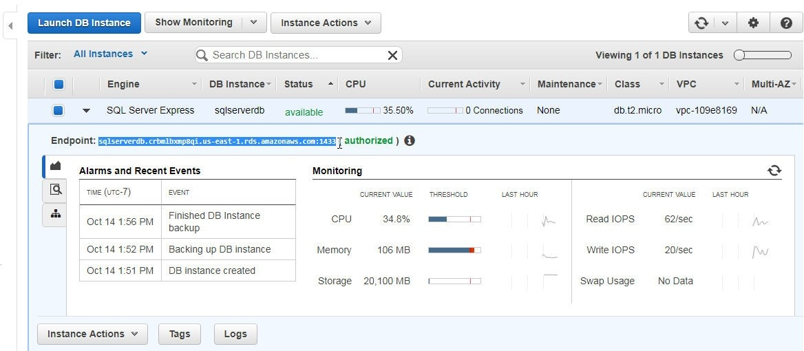 Using Toad for SQL Server with AWS RDS