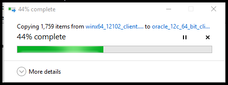 You will see a completion bar as the download completes.
