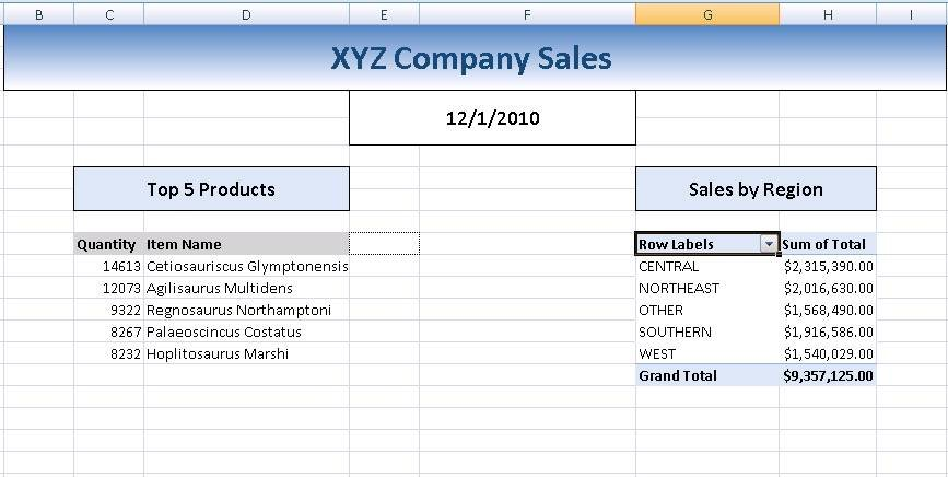 automating complex excel reports