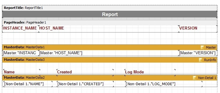 How to create reports in Toad for Oracle with multiple non-related