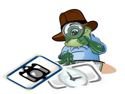 Indiana Jones Toad cartoon character looking at Cameras and Watches in Toad for Oracle.