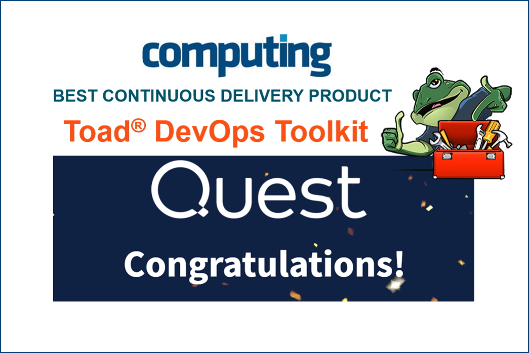 Toad DevOps Toolkit wins again! Best Continuous Delivery Product in the DevOps Excellence Awards.Get a free trial.
