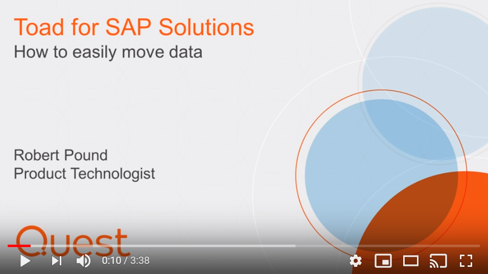 how to easily move data Toad for SAP